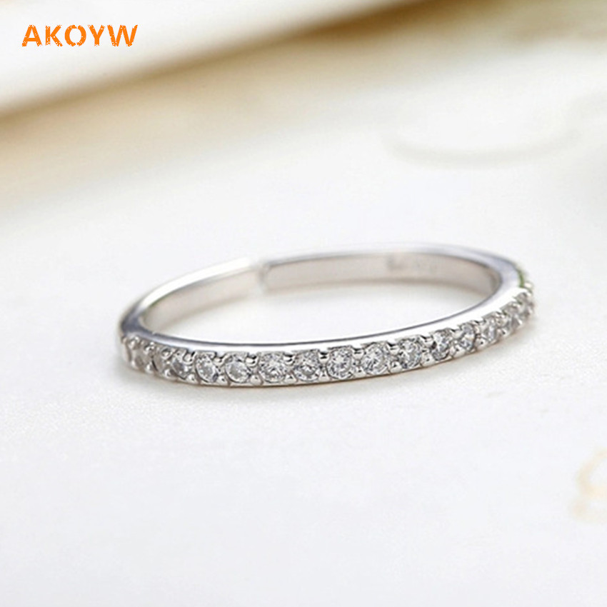 silver plating ring opening single row full of crystal gold silver fashion lady high quality jewelry wedding gift tokens(China (Mainland))