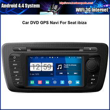 Android 4.4.4 1024*600 Capacitive Screen 1.6G CPU Quad Core Car DVD Player For Seat ibiza