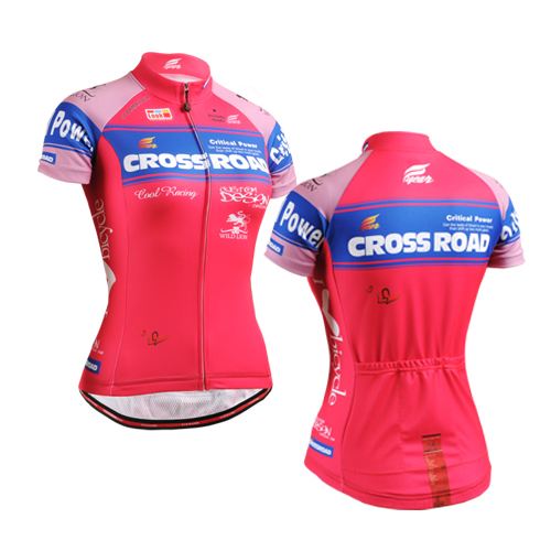 2016 Bike team women pink spandex Cycling jersey tops girls short sleeve bike clothing summer style - Global-Sports store
