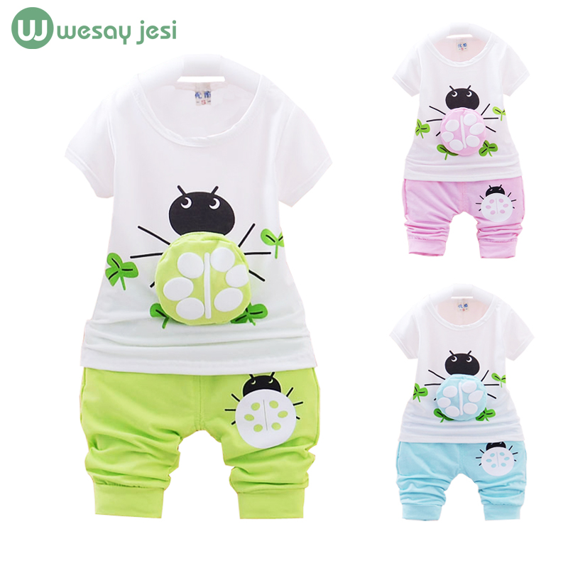 Baby boy clothes 2016 summer baby girl fashion set t-shirt+pants suit tracksuit newborn sport infant suits - WESAY JESI W Co. Ltd. Store store