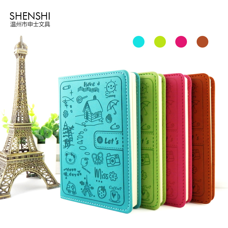 stationery -18 series notebook Korean candy color colorful cartoon diary A5/A6 1 pcs random color<br><br>Aliexpress