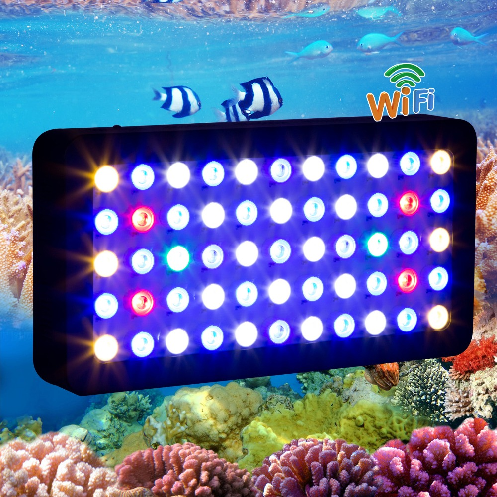 2015 HOT WIFI 165w led aquarium light Dimmable for coral reef fish plant Full Spectrum marine aquarium led lamp CN/USA/DE stock(China (Mainland))