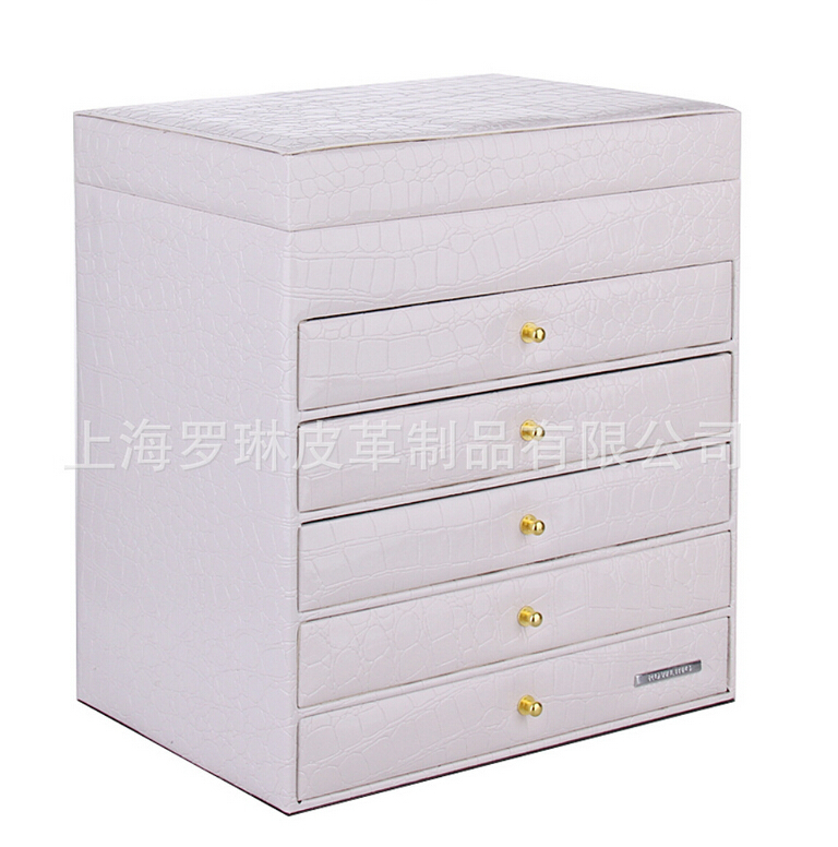 Wholesale White Extra Large Jewelry box Cabinet Armoire Bracelet Rings Beads Packaging Box 1pcs(China (Mainland))