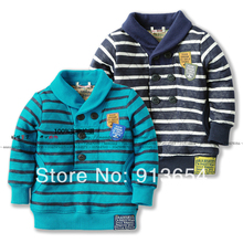 New arrival 2014 spring autumn children outerwear baby & kids clothes baby boys Casual pullover top cool striped children hoody(China (Mainland))