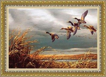 Бесплатная доставка гобелен, Европейский деревенский пейзаж картина, В дикие гуси