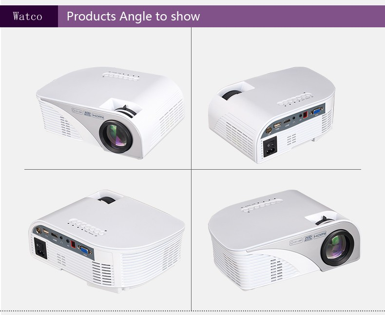 2016 new arrival mini portable p90 projector full hd home for Hd portable projector reviews