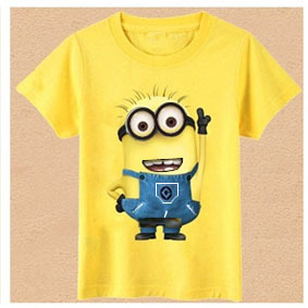 New 2015 cartoon t shirts anime figure despicable me minions clothes minion costume children's clothing children T- shirts(China (Mainland))