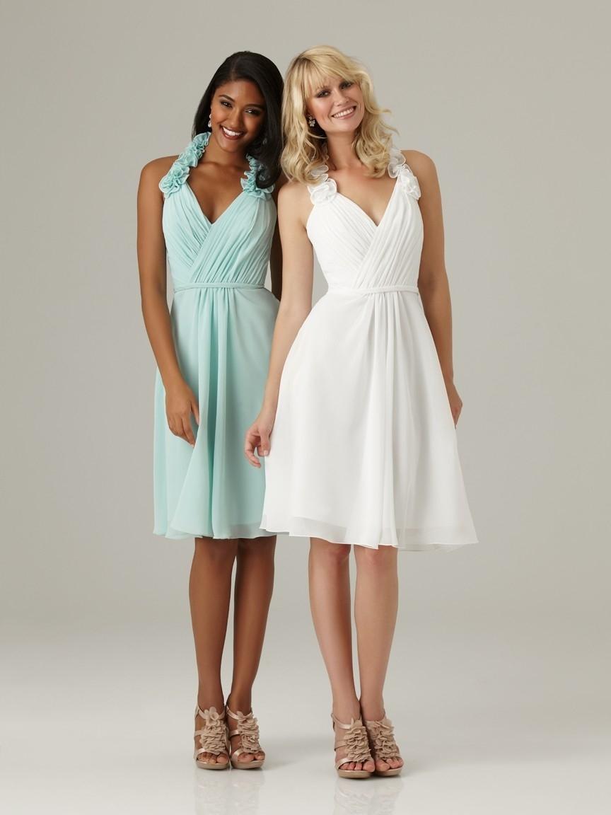 Charming flowers a line halter robins egg white chiffon for Plus size short wedding dresses under 100