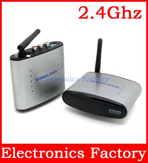 New 2.4Ghz 2.4g Sender Tv Signal Wireless AV Audio Video Transmitter +Receive 4 Channels 150m RCA Composite IR Remoter 110v-220v(China (Mainland))