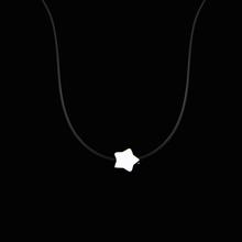 Женское ожерелье Poputton на прозрачной леске, серебряное ожерелье на невидимой цепочке, женское ожерелье-чокер со стразами, женский ошейник(China)