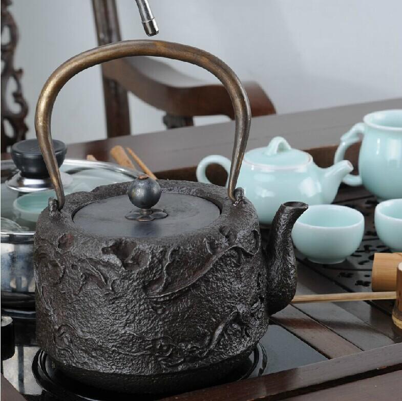 Friends of arts kung fu tea tea factory direct vintage japanese iron teapot cast iron pot rain - Cast iron dragon teapot ...