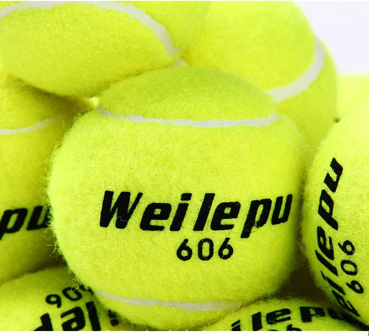 3pcspack Natural Rubber + Synthetic Wool Fiber Entry-level Tennis balls for Children playing Dog Training Tennis Ball (3)