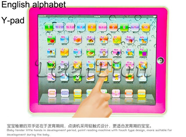 36pcs/lot hot sales alphabet Y-pad ypad tablet Table computer English letter ABC/Number kids learning machine educational toys