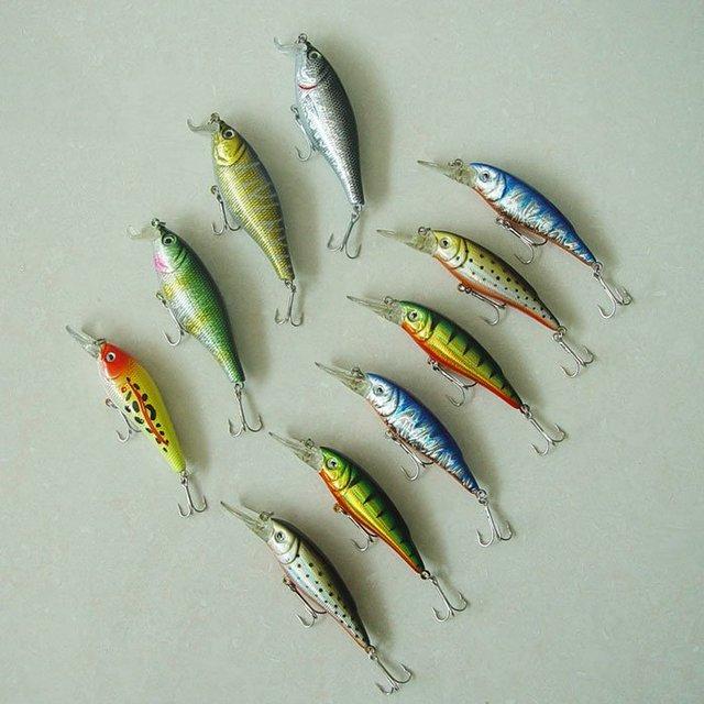 Free shipping, Fishing  Lure,Hard Plastic fish, Minnow,9cm/14g-1/2oz Diving1-1.5m 10pcs/bag