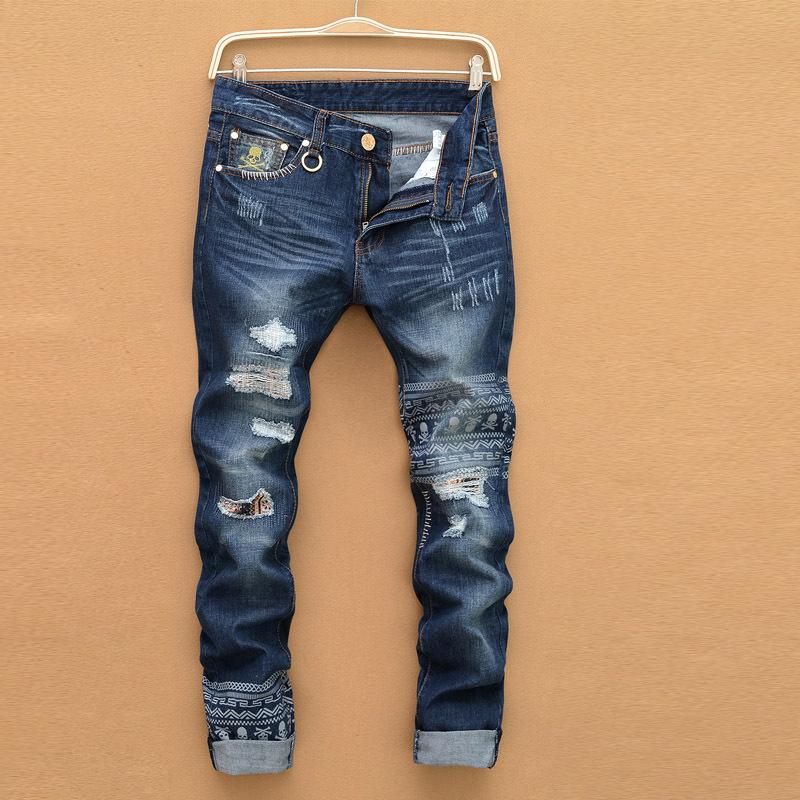 New disel jeans mens famous brand biker jeans robin designer sjeans for man ripped jeans for men ...