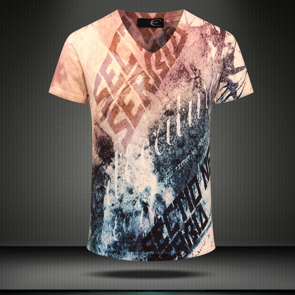 Wholesale 2015 men 39 s short sleeve 3d digital printing for T shirt printing and distribution