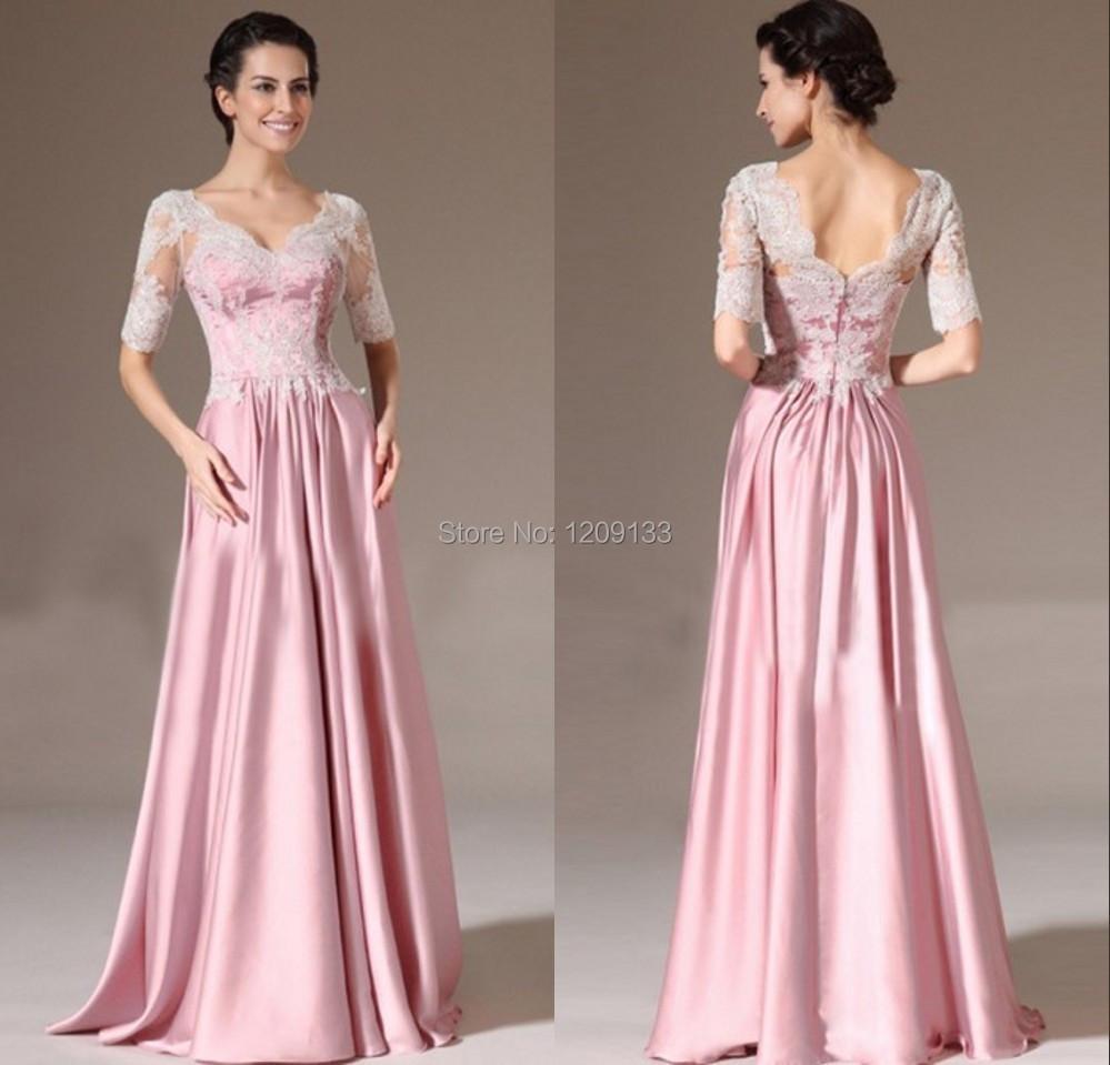 vestidos largos con media manga