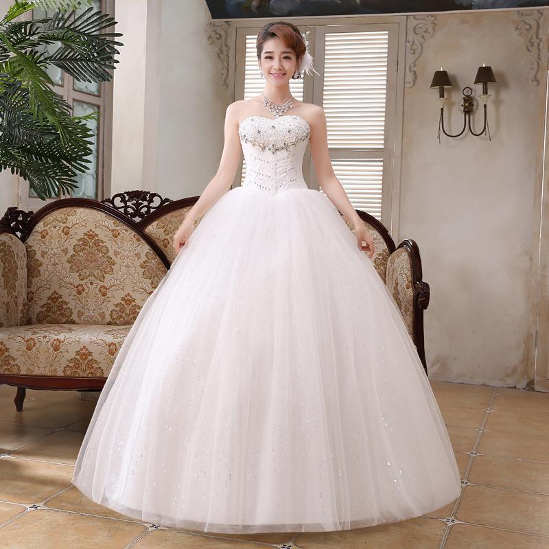 Free shipping ivory wedding dresses 2016 new elegant for Wedding dress free shipping