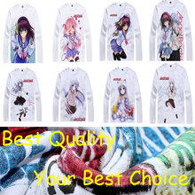 Angel Beats anime sports t-shirt anime Yuzuru Otonashi cotton shirt Yuri Nakamura Cosplay christmas halloween Costumes clothing
