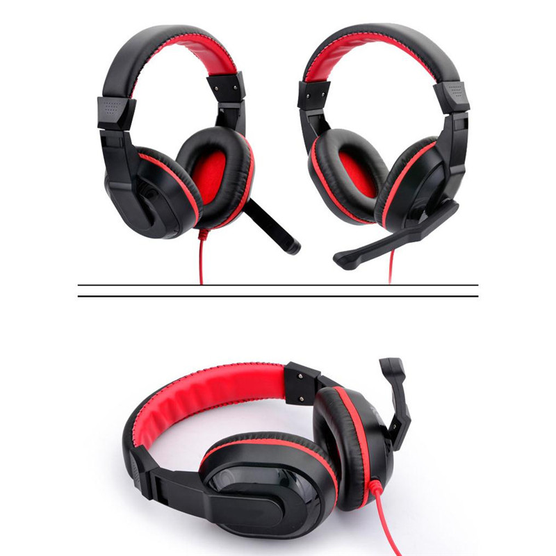 3.5mm jack Gaming Headphones with Microphone Gamer Headset Stereo Big Earphone for PC Computer player Skype Phone(China (Mainland))