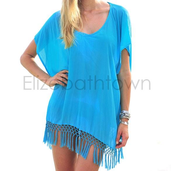 New 2015 fashion bikini beach cover up women beach wear for Beach shirt cover up