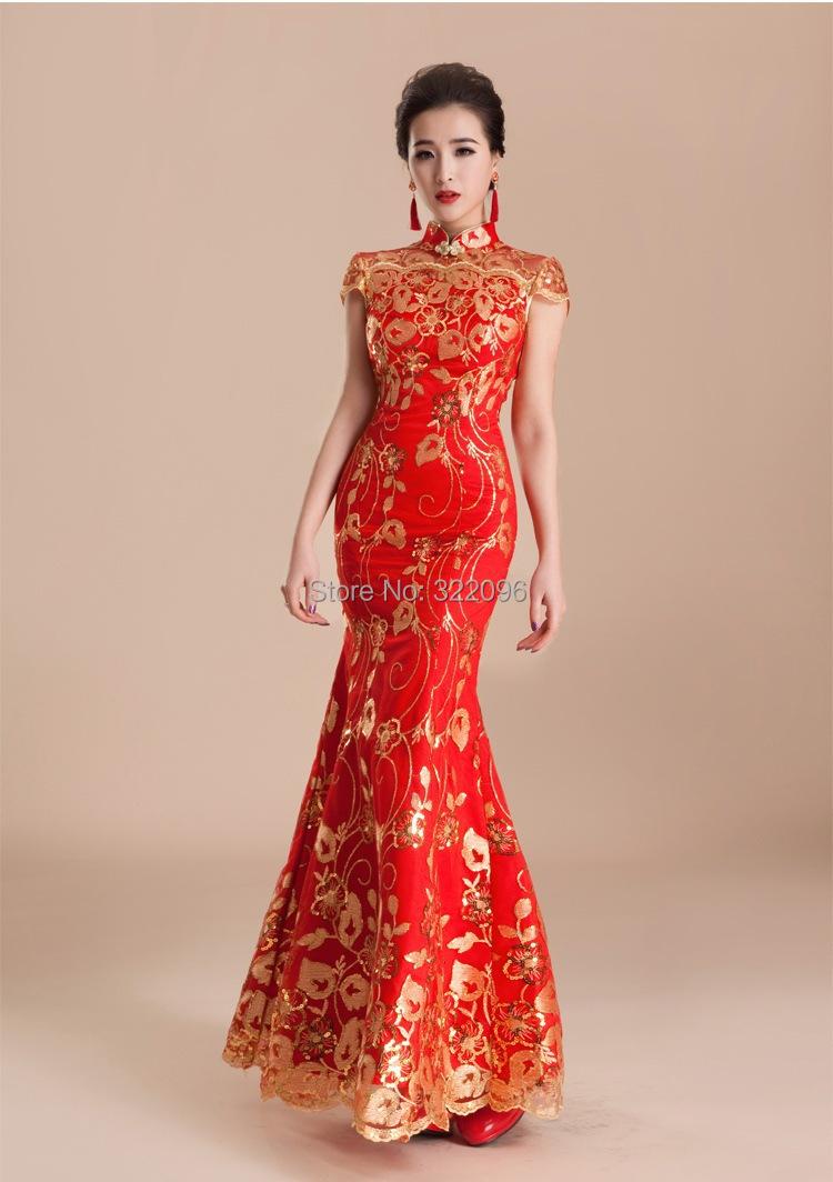 Chinese cheongsam special offer chinese dress bride evening dress