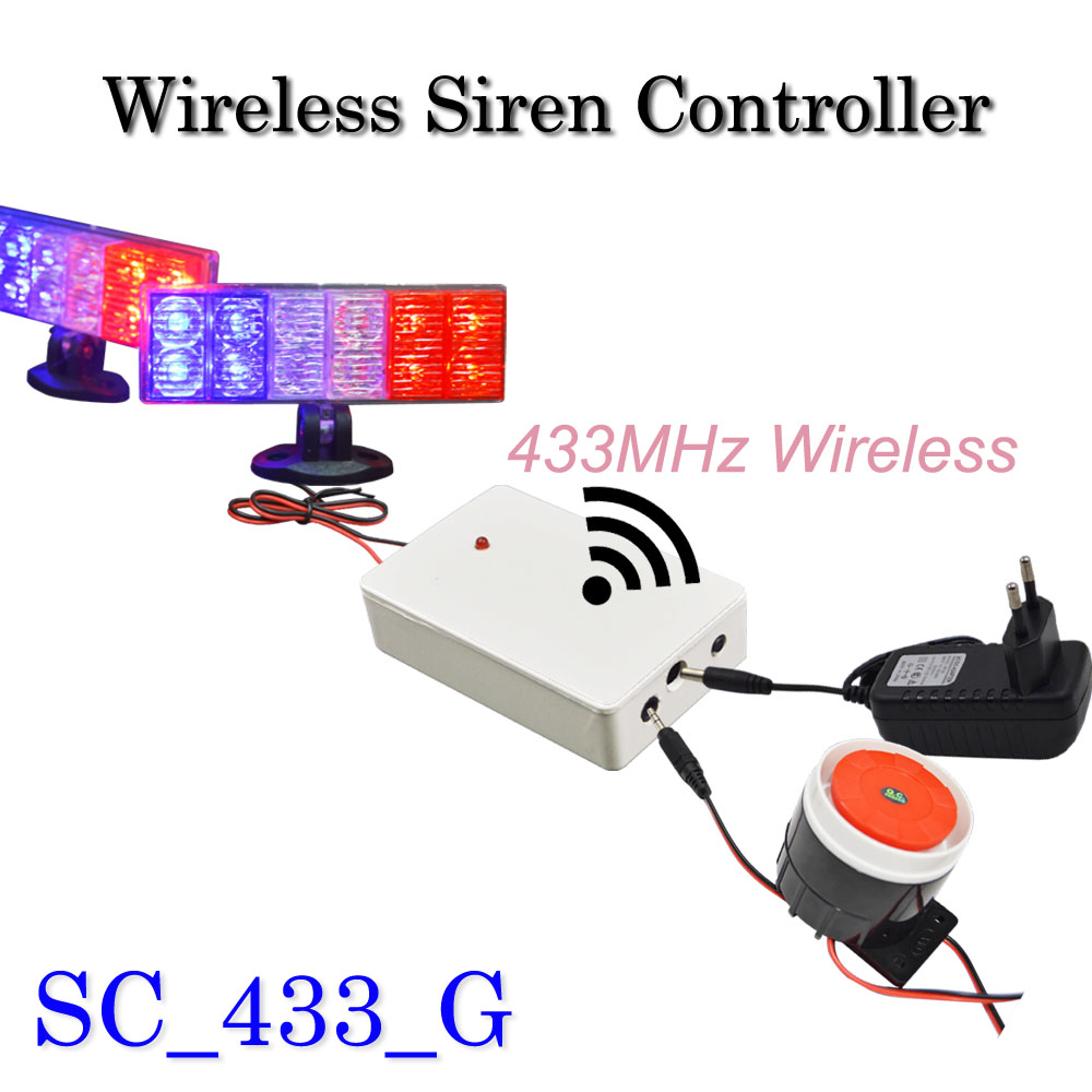 Wireless Flash Strobe Siren For GSM Alarm System 433MHz, Also it is a spot alarm system, can add 100 wireless detectors,