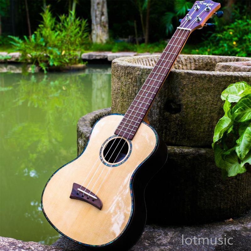 Solid Spruce Top Tenor Ukulele 26 inch Hawaii Guitar Mahogany Back Bone Saddle W/Bag and JOYO Tuner(China (Mainland))