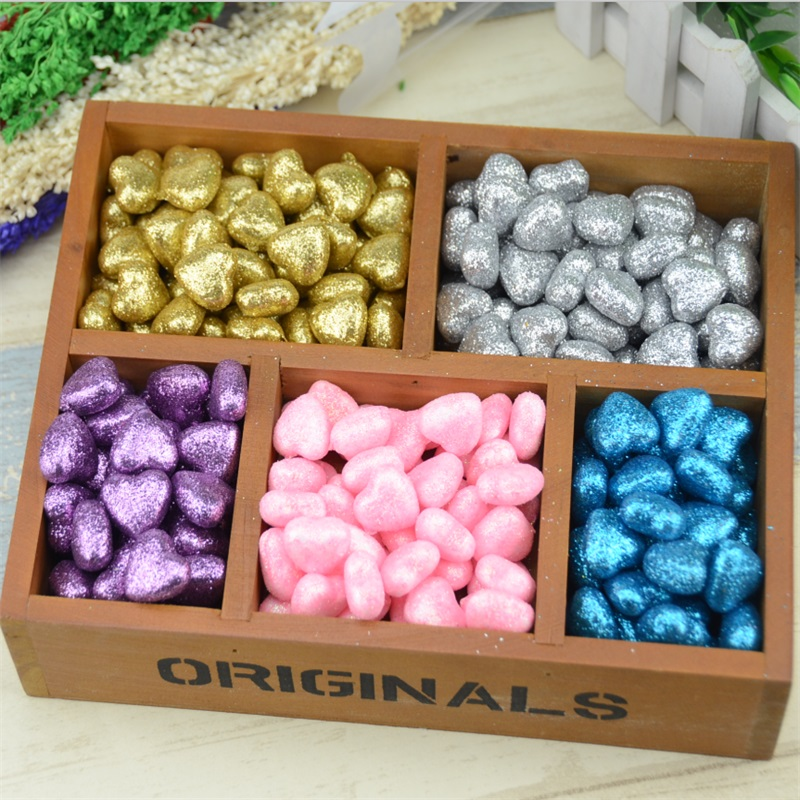 30pcs/lot 1.5*2cm Shining PE foam heart Wedding Decoration For DIY Hand make candy box Scrapbooking Festive & Party Supplies(China (Mainland))