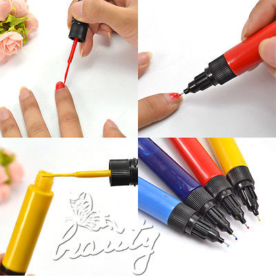 High Quality Hot-Selling Nail Polish Design Pro Nail Art Pen Painting Paint Drawing Pen Nail Tools ManicuresFree shipping #17C10(China (Mainland))