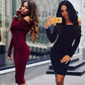 2016 Slim Hip Package Warm Dresses Vestido Women Autumn Dress Long Sleeve Winter Clothing Plus Velvet 5xl Large Size Party Dress