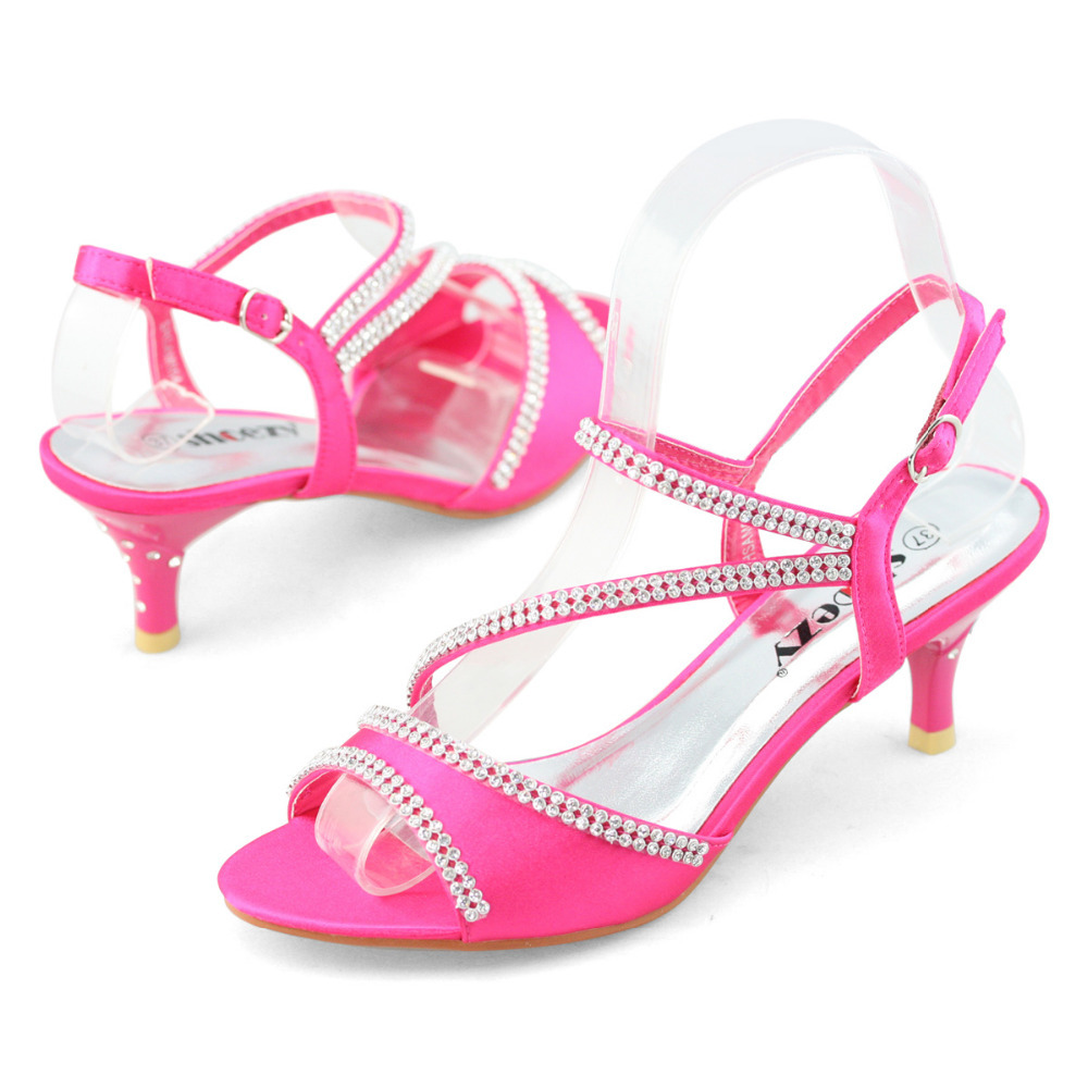 Hot Pink Low Heel Wedding Shoes - Tbrb.info