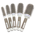 5 pcs per lot Ceramic Ionic Round Comb Barber Hair Dressing Salon Styling Tools Brushes 5