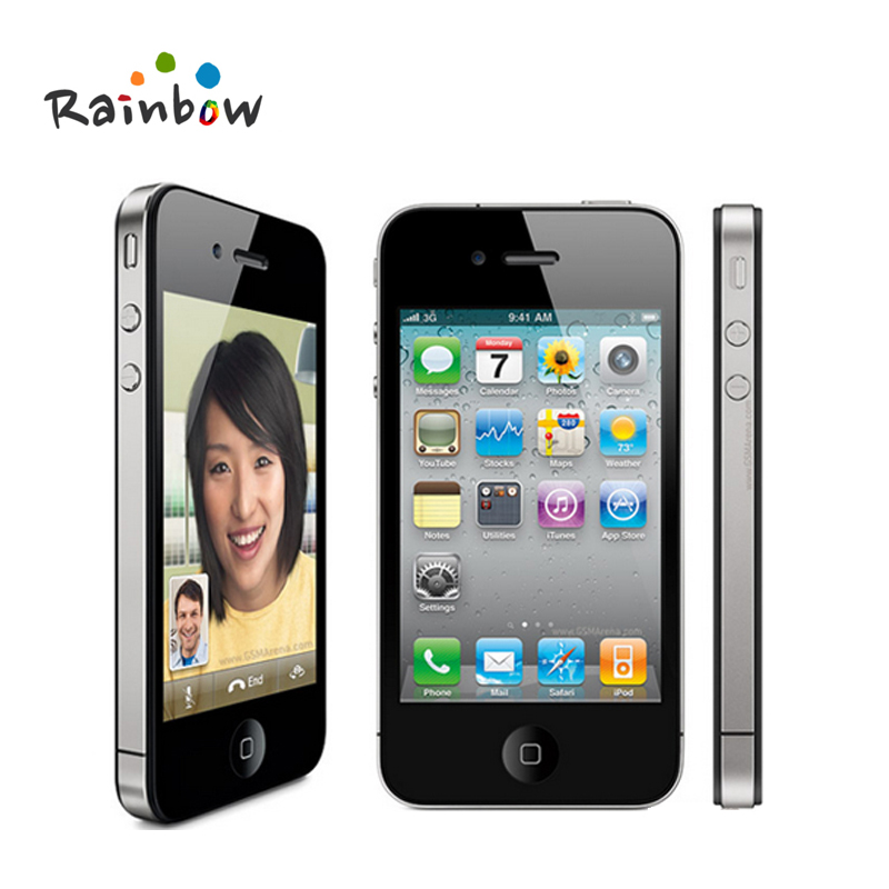 Original iPhone 4 iOS 16G Or 32GB ROM 3.5 inches 5MP Camera WIFI GPS Cell Phone free shipping(China (Mainland))