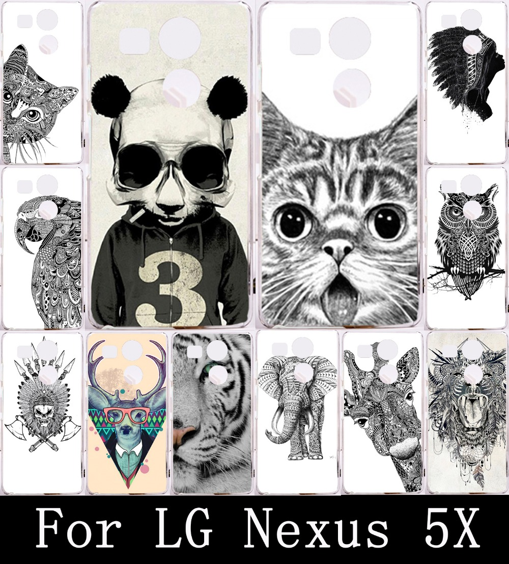 Cartoon Animal Cat Owl Elephant Case For LG Nexus 5X Case Cover For Nexus 5 X Phone Cases Hard PC Painting Back Shell Housing(China (Mainland))