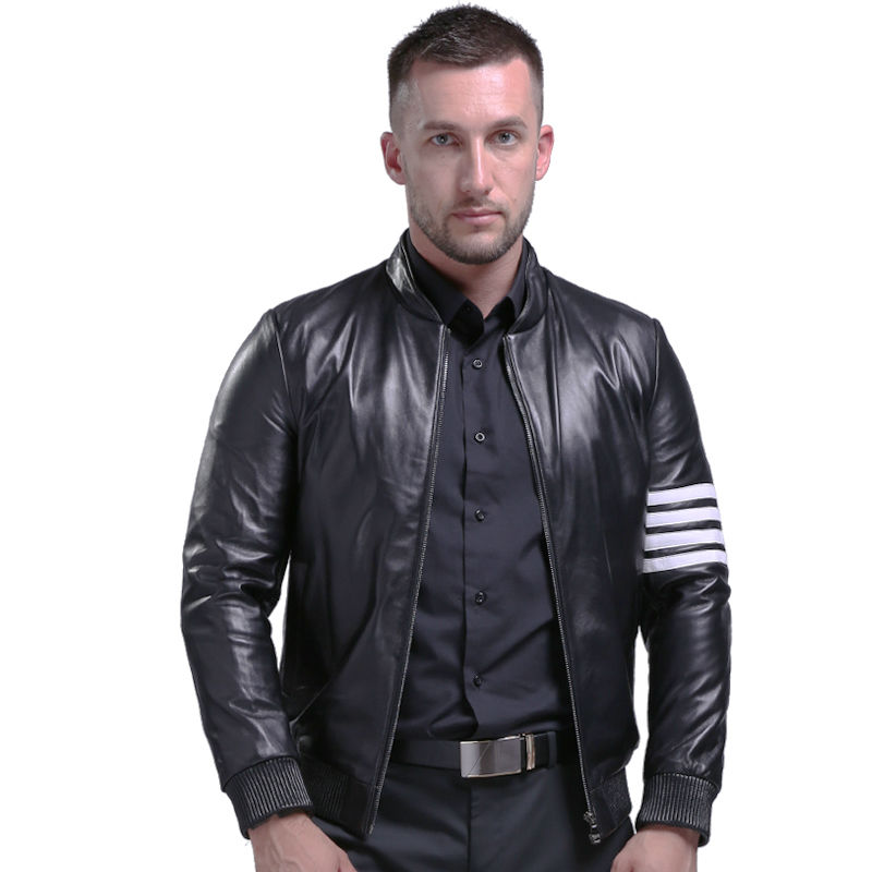 Online Get Cheap Mens Black Leather Bomber Jackets -Aliexpress.com ...