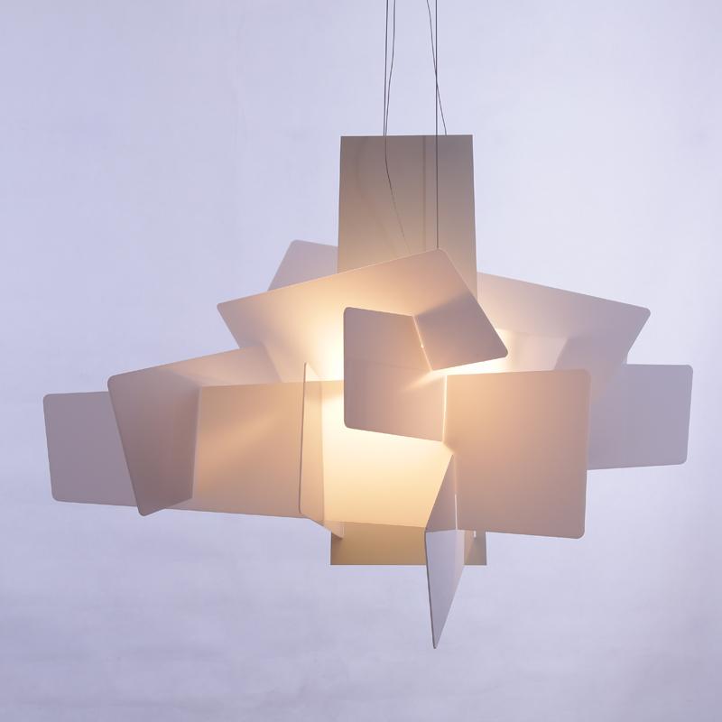Koop Moderne foscarini big bang hanglampen wit acryl lampen eetkamer ...
