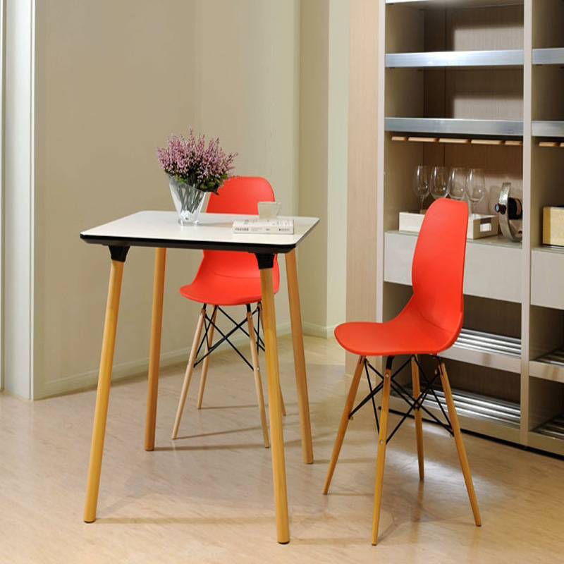 Fashion 100 Wooden Plastic Chair White Red Blue Dining Chair Living Room Furniture New