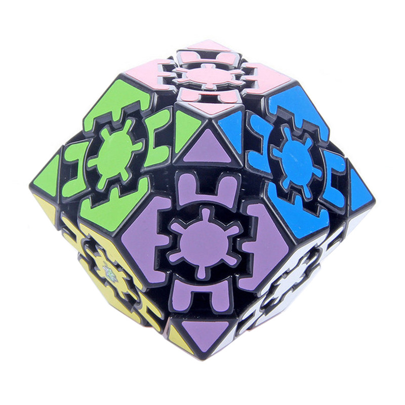 2014 Brand New Lanlan 42mm Dodecahedron Rhomb Gear Magic Speed Cube Puzzle Cubes Educational Toy Special Toys(China (Mainland))