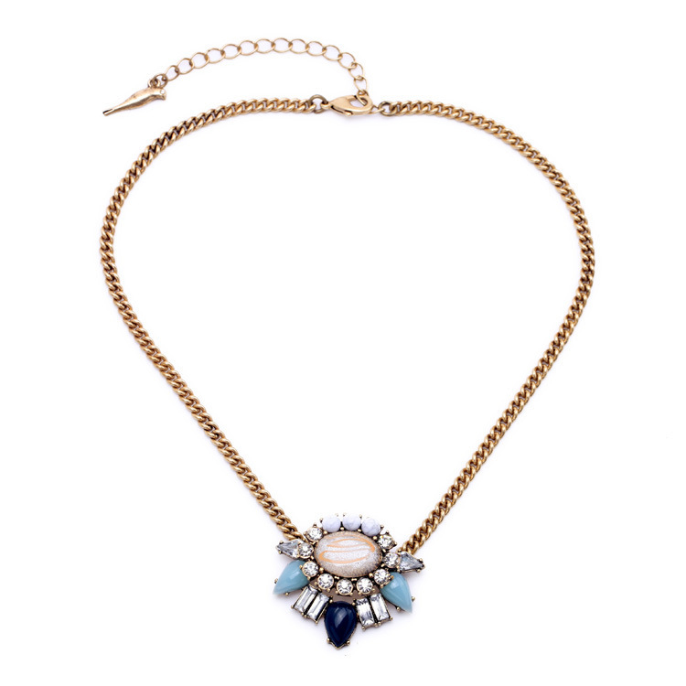 Fashion New Vintage Style Shimmering Heritage Blossom Pendant Necklace Fine Jewelry Adjustable Gold Chain for Women 2015(China (Mainland))