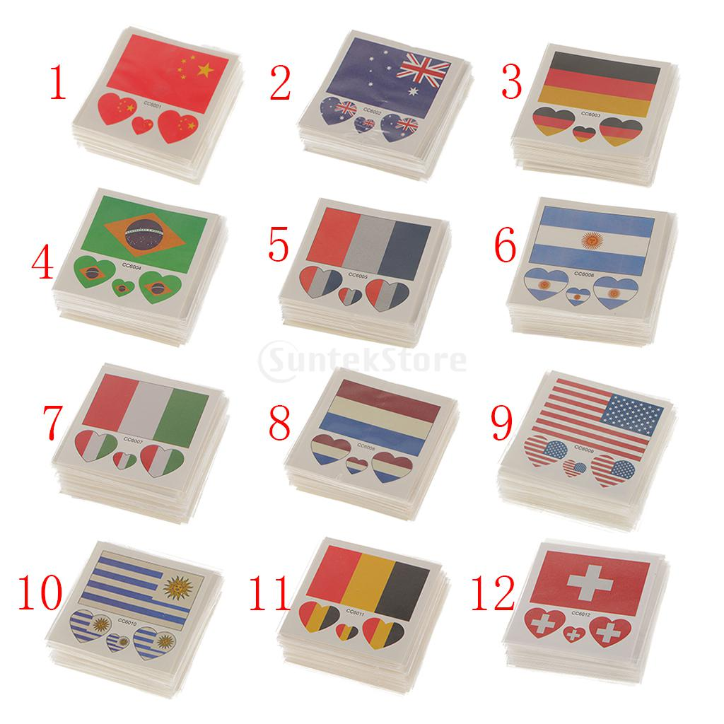50 Pack Flag Stickers Euro Cup Football European Championship Cheer(China (Mainland))