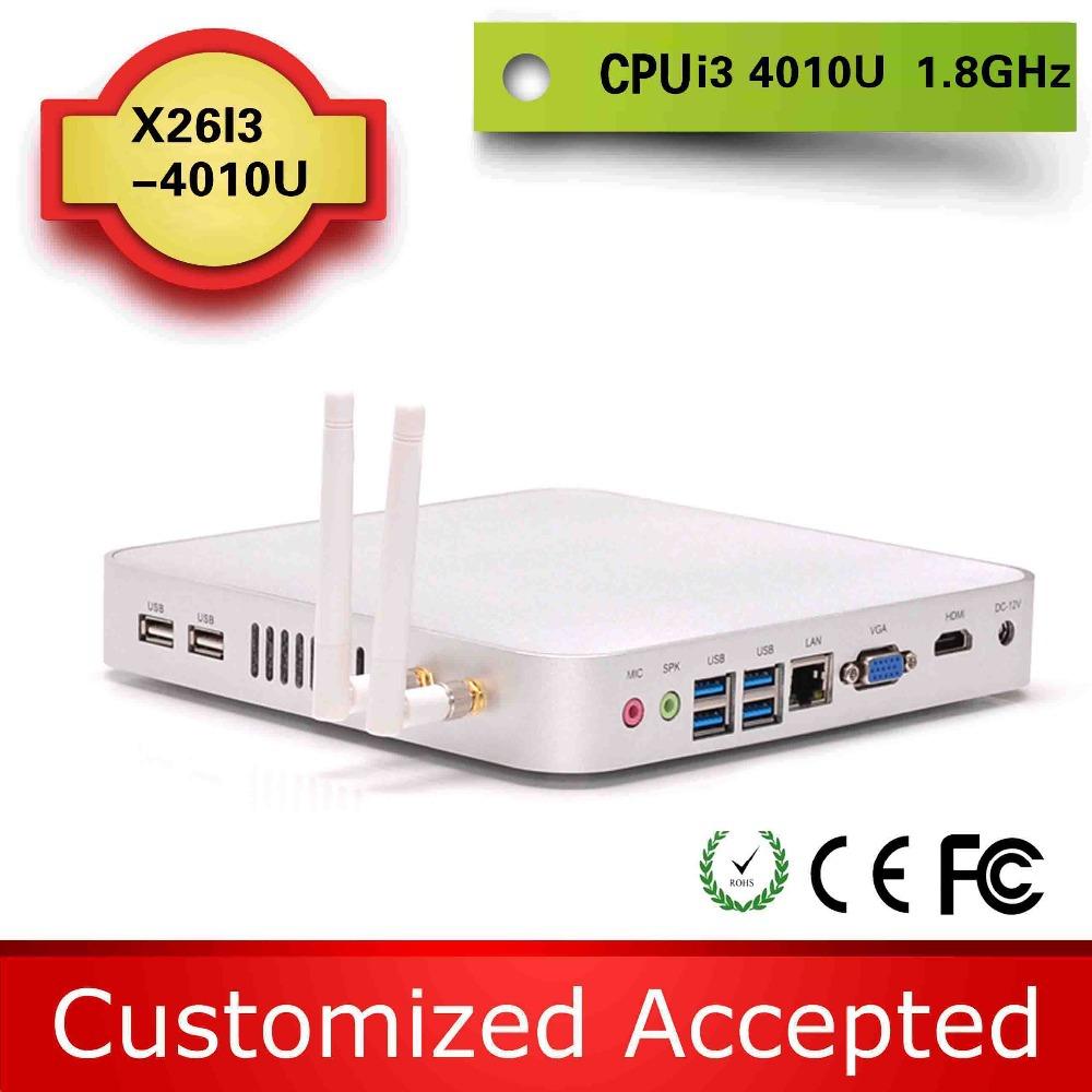 High Performance linux arm pc windows mini desktop skype tv box Support wireless keyboard X26-I3L 4010U(China (Mainland))