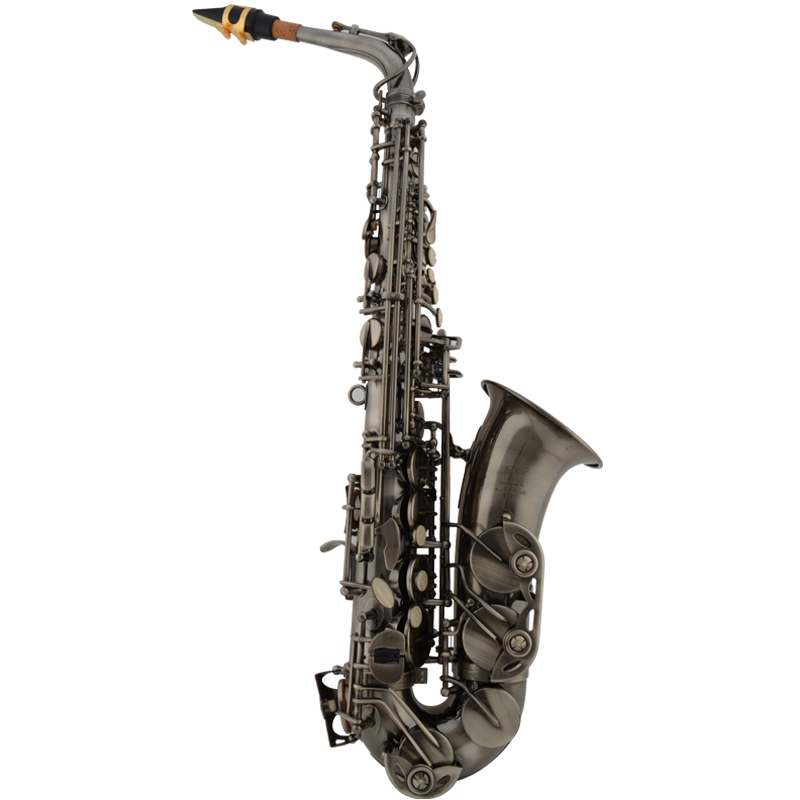 High quality JYAS-2000H Professional Antique silver Alto Saxophone E Flat with Bakelite saxophone mouthpiece top wind instrument<br><br>Aliexpress