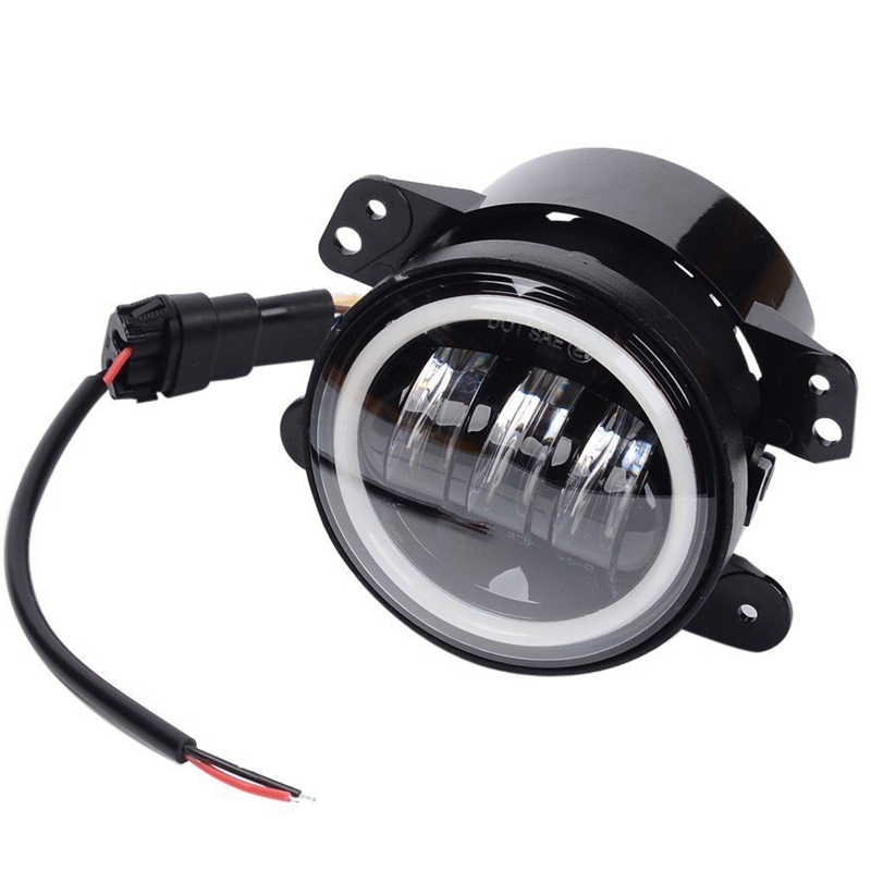 "Фотография 1 Pair 4"" Round 30W 1440lm CREE LED headlight daytime running light Fog Lamp Light"