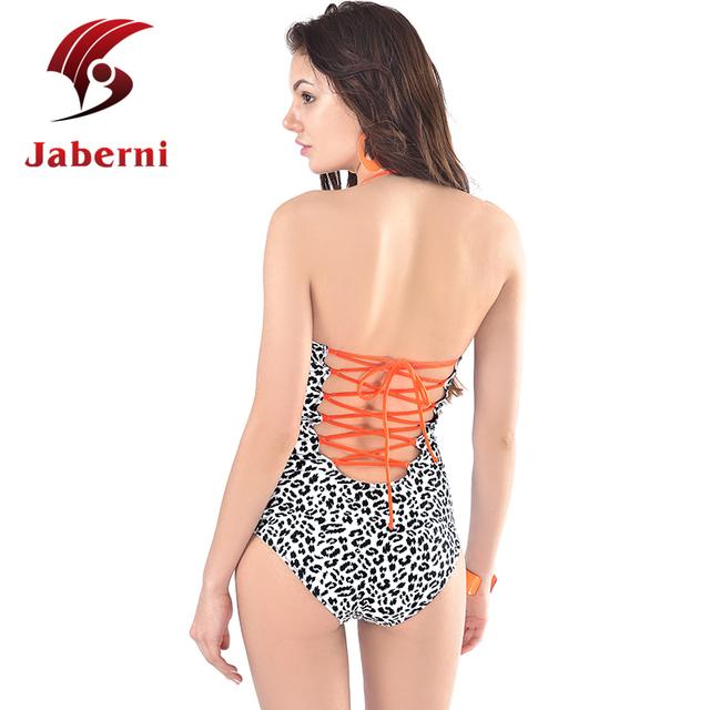 Фактический модель сексуальная назад дизайн повязку купальник высокой талией женщины купальники леопард с ума женский монокостюма холтер монокини