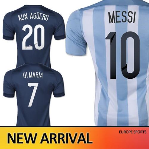 Free Shipping Argentina 2015 soccer jerseys Argentina jersey 15 16 Copa America di maria shirt survetement Football Jerseys(China (Mainland))