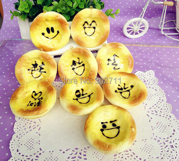 20pcs Cute Egg Tart Squishy Toast Phone Charm/Key Chain,Fruit/Cream Toppings