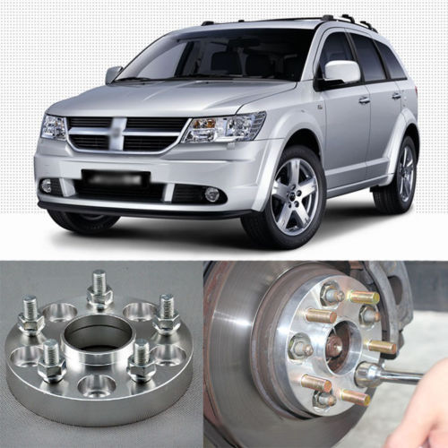 4pcs New Billet 5 Lug 12*1.5 Studs Wheel Spacers Adapters For Dodge Journey<br><br>Aliexpress