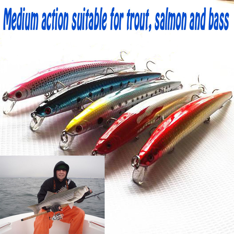 2014 New SA145 Fishing Lures 10 pcs Multi Color Artificial Hard Minnow Jigging Lure For bass Spoon Bait In ocean Boat Fishing(China (Mainland))