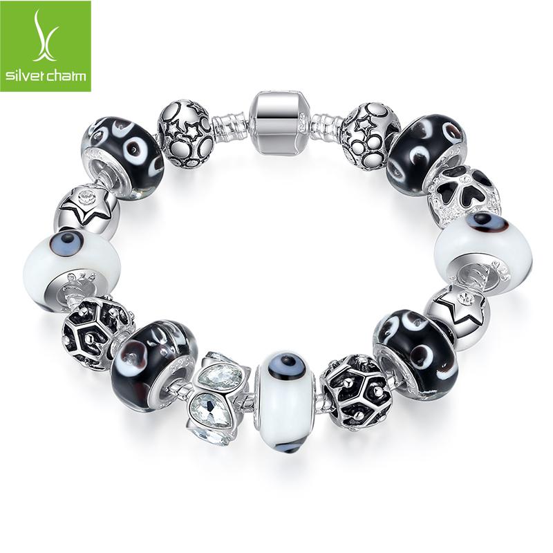Bamoer New Fashion 925 Silver Charm bracelet for Women DIY Beads fine Jewelry Fit Original pandora Bracelets Pulseira Gfit<br><br>Aliexpress